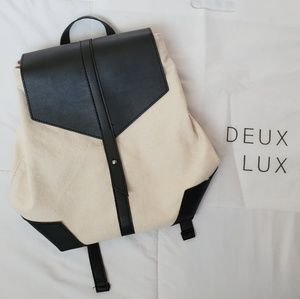 NEW canvas-leather small backpack